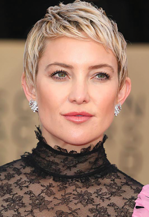 Kate Hudson in a Valentino dress paired with 6.91ct diamond earrings.